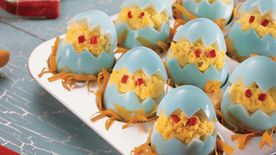 Chicken Little Stuffed Eggs