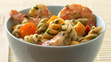 Thai Shrimp and Mango Pasta Salad