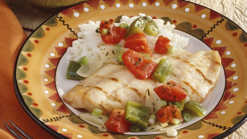 Grilled Creole Snapper