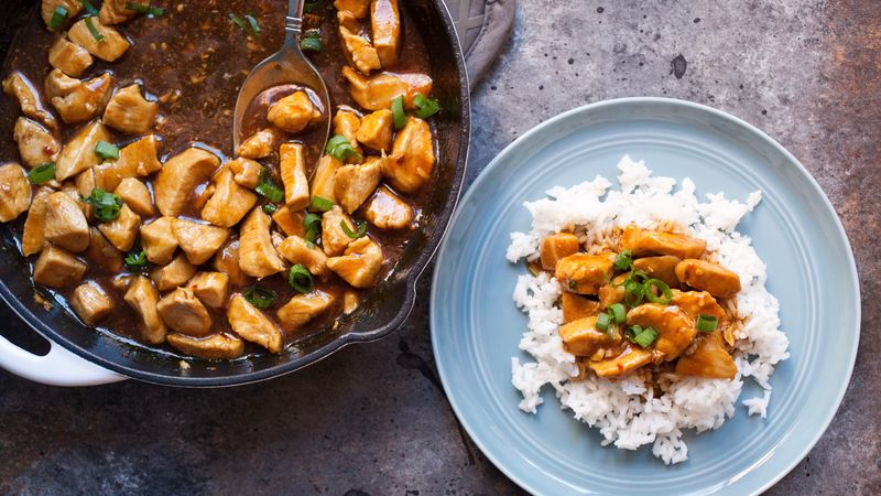 Copycat Food Court Bourbon Chicken