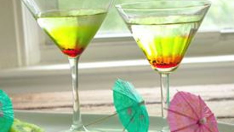 Kiwi-Strawberry Melon Martini