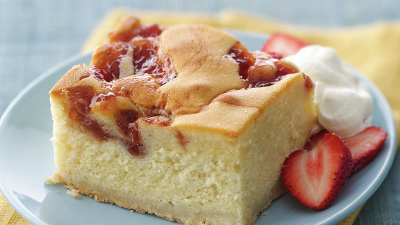 Strawberries and Cream Butter Cake