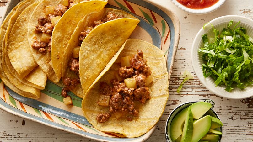 Ground Beef and Potato Tacos