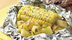 Grilled Bearnaise Corn and Potato Foil Packs