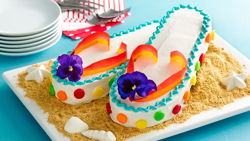 678e146d8 Flip-Flops Cake Recipe - BettyCrocker.com