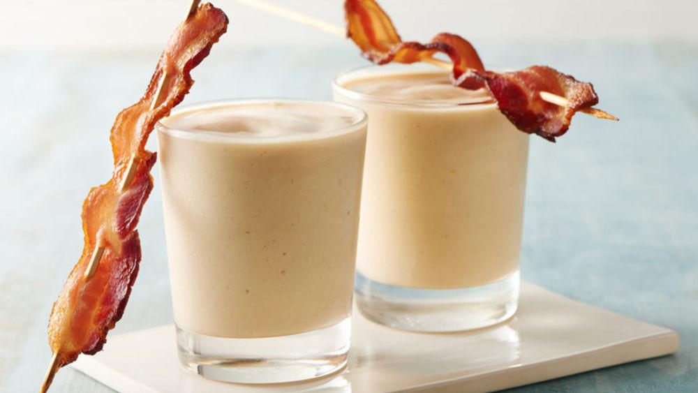 Banana-Peanut Butter-Bacon Smoothies