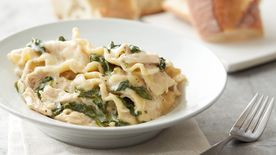 Slow-Cooker Cheesy White Chicken Lasagna