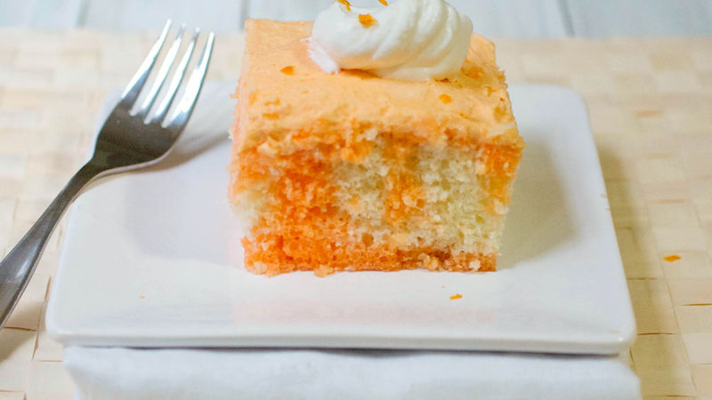 Orange Cream Poke Cake
