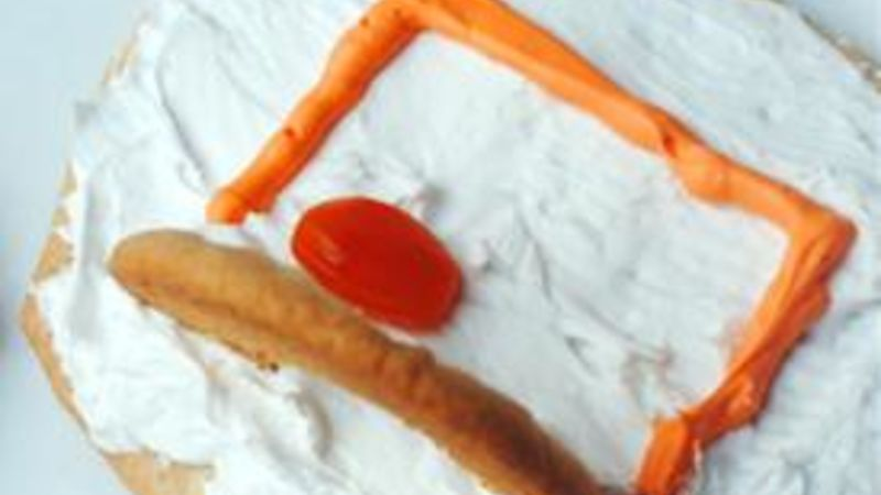 Basketball Hoop Cookies with Gusher Basketballs