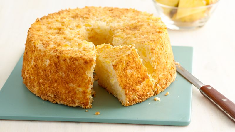 Two Ingredient Pineapple Angel Food Cake Recipe