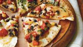Open-Face Chile-Cheese Quesadillas