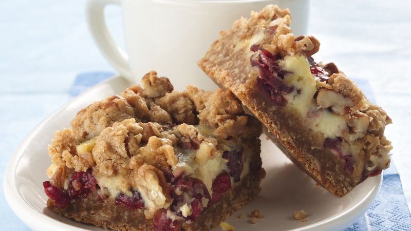 Oatmeal-Cranberry-Sour Cream Bars