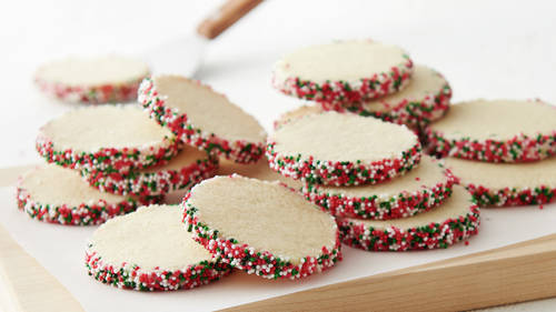 Christmas Sprinkle Butter Cookies