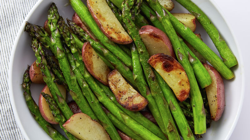 Grilled Asparagus And New Potatoes Recipe Bettycrocker Com