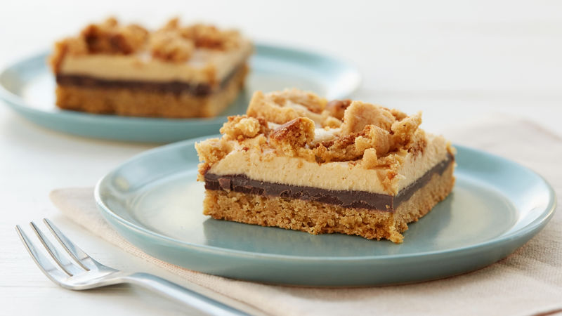 Chocolate-Cream Cheese-Peanut Butter Bars