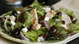 Chicken, Cranberry and Goat Cheese Salad