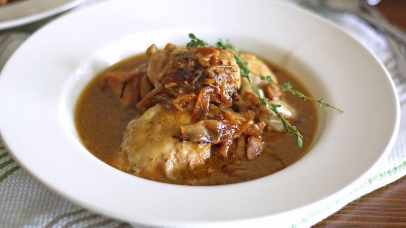 French Onion Chicken with Gruyere