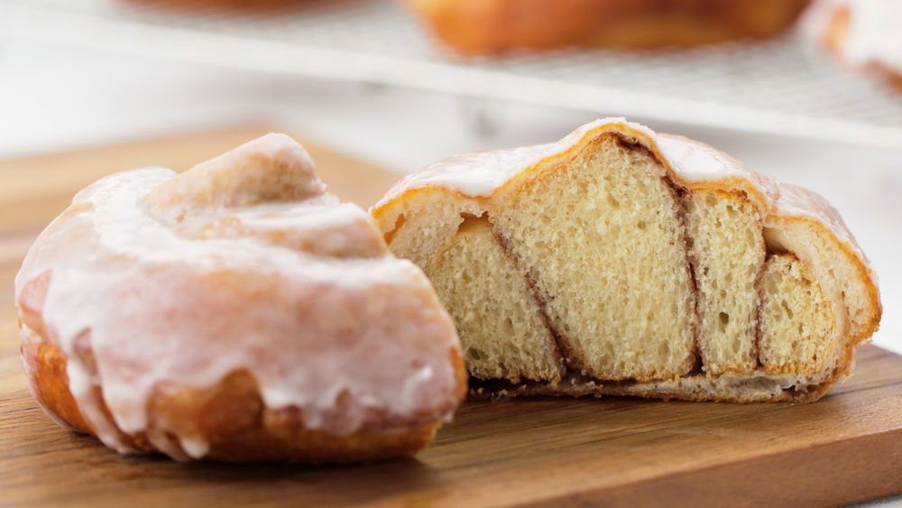 Cinnamon Roll-Stuffed Doughnuts