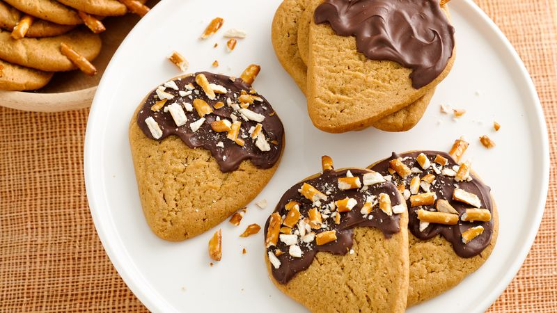 Chocolate-Peanut Butter Acorn Cookies