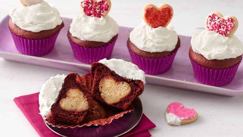 Surprise Inside Valentine S Cupcakes