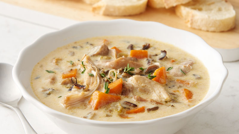 Instant Pot™ Chicken and Wild Rice Soup