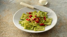 Italian Parsley-Pesto Ravioli