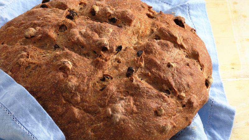 Cinnamon-Raisin-Walnut Wheat Bread