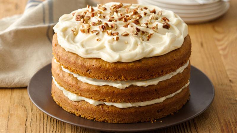Pecan-Pumpkin Cake