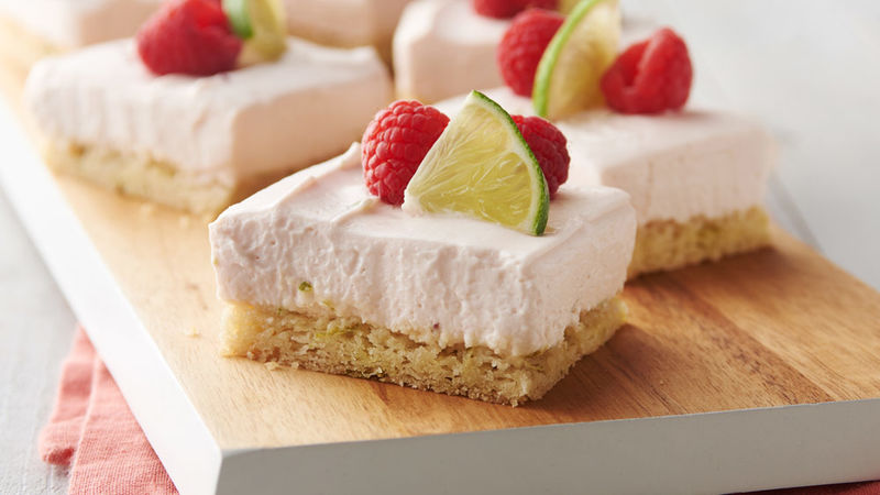 Creamy Raspberry-Limeade Bars