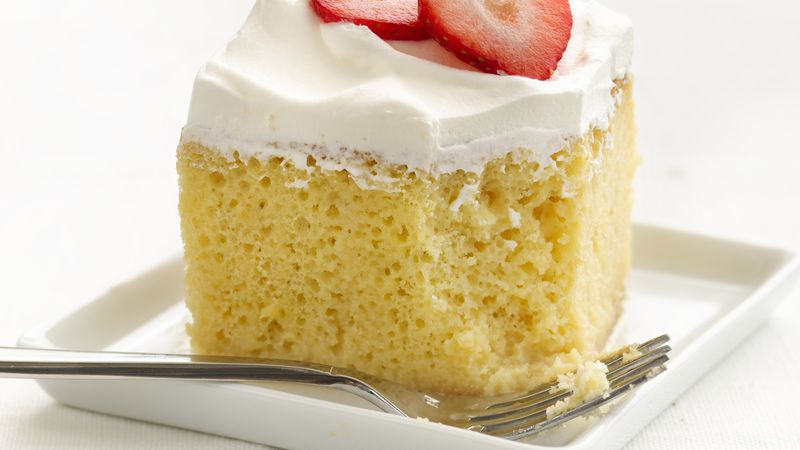 Skinny Tres Leches Cake Recipe BettyCrockercom