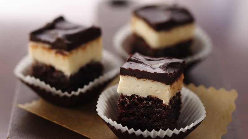 Creamy Coffee Filled Brownies