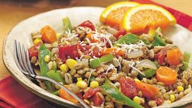 Lentil Barley Vegetable Skillet