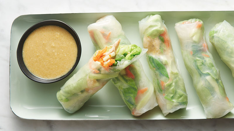 Green Curry Chicken Summer Rolls