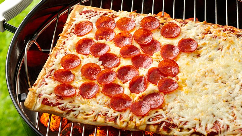 Grilled Half-and-Half Pizza