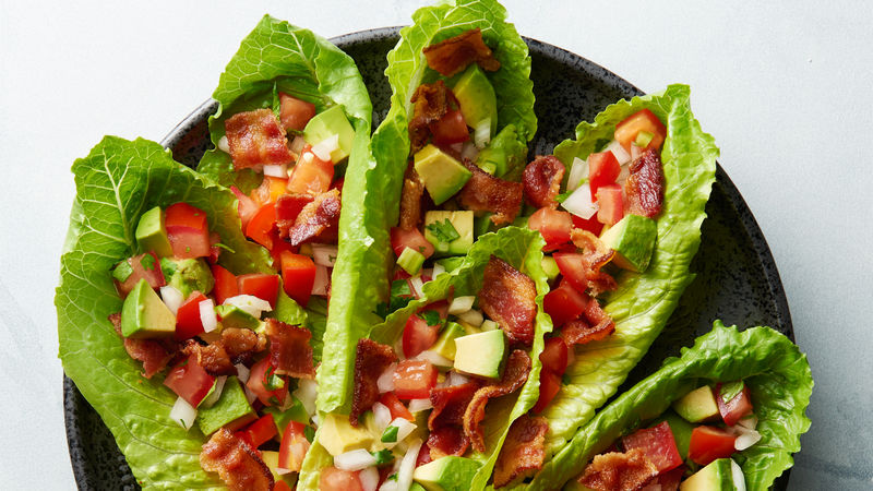 Loaded BLT Avocado Lettuce Wraps