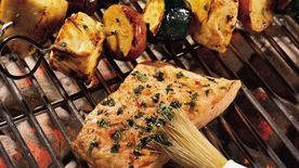 Cilantro Salmon on the Grill