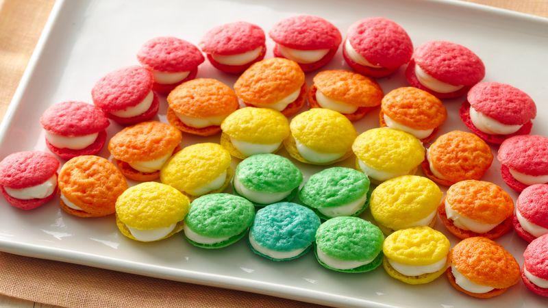 Mini Rainbow Whoopie Pies Recipe - BettyCrocker.com
