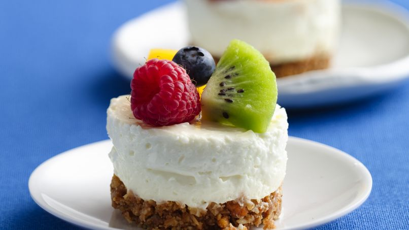 No-Bake Mini Key Lime Cheesecakes