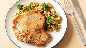 Easy Pork Chops with Stuffing