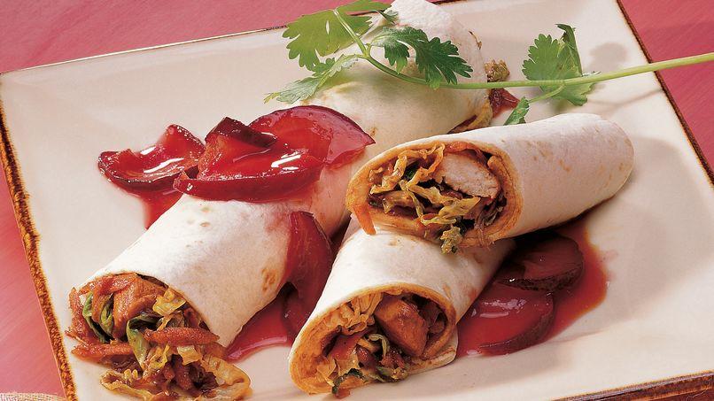 Mou Shu Chicken Wraps