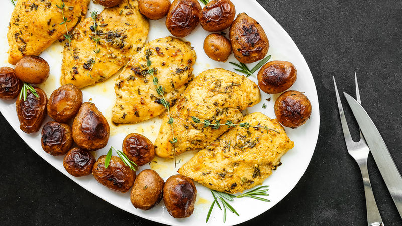 Herb-Roasted Chicken and Potatoes