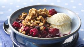 Triple-Berry Granola Crisp
