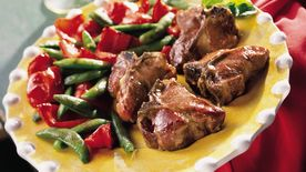 Roasted Lamb Chops with Sugar Snap Peas