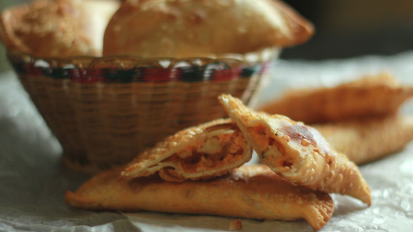 Sweet Potato and Goat Cheese Empanadas