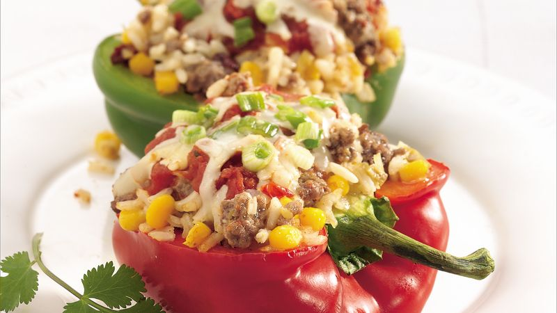 Chipotle Beef-Stuffed Peppers