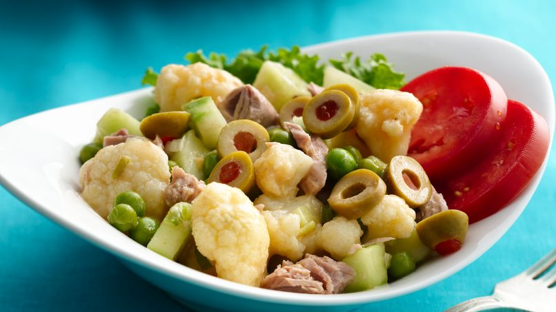 Tuna Cauliflower Salad with Lime Vinaigrette