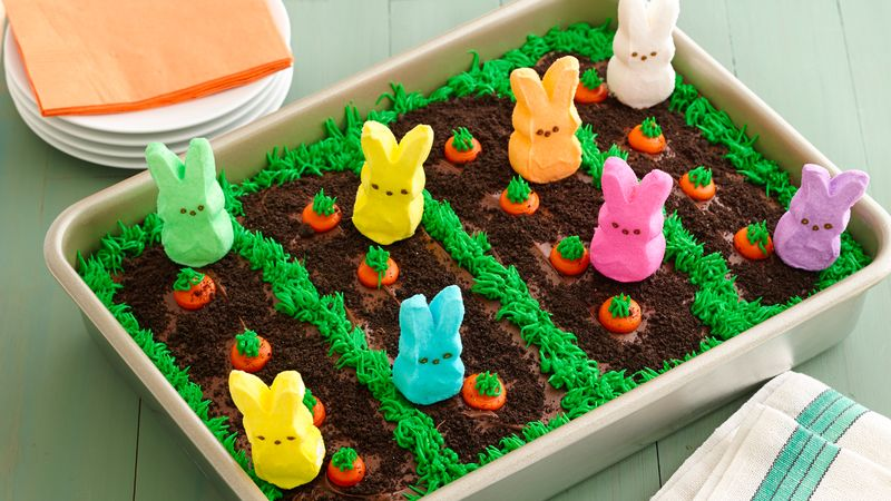 PEEPS  Easter Garden Cake Recipe - BettyCrocker.com