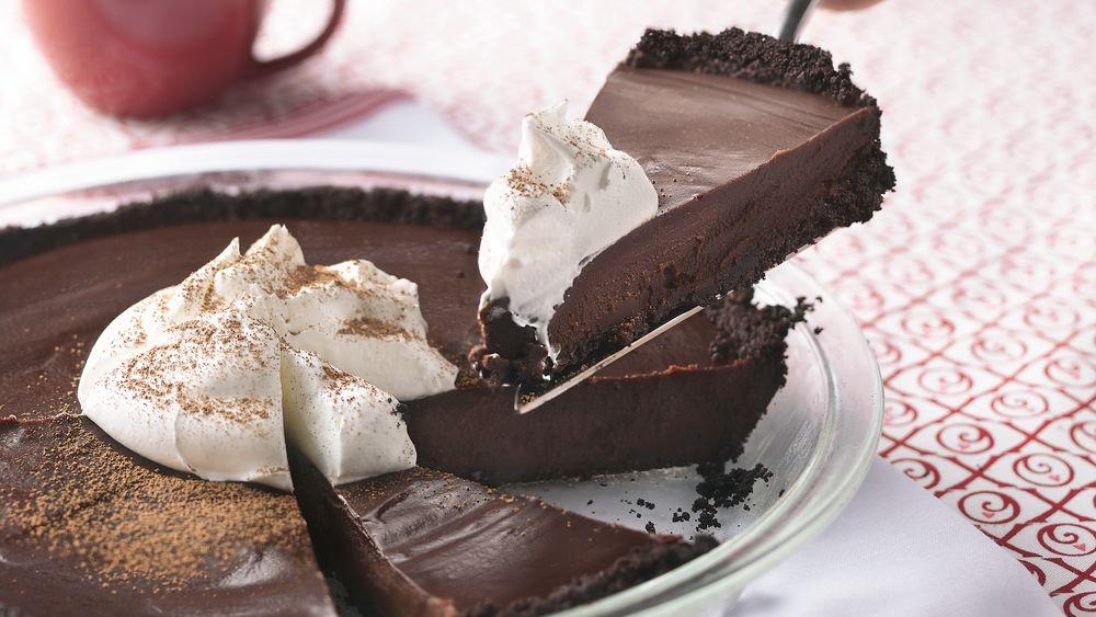 Chocolate Cookie Truffle Pie