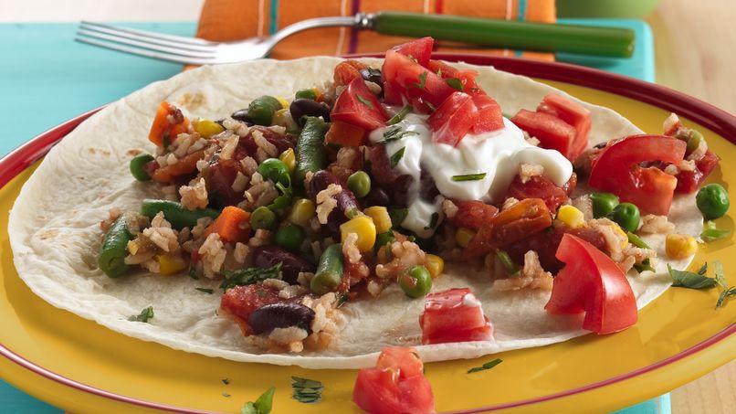 Tortillas con Verduras Coloridas