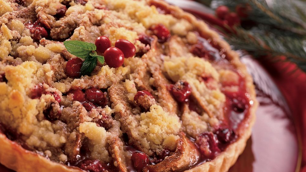 Streusel-Topped Cranberry-Pear Tart recipe from Pillsbury.com